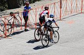MT. BALDY, CA - MAY 21: Matthew Busche and Daniel Martin race up the final ascent during the 7th Sta