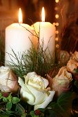 foto of unity candle  - unity candles - JPG