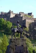 Royal Scots Greys Monument in front of Edinburgh Castle