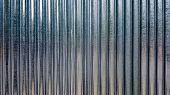 White Corrugated Metal Or Zinc Texture Surface Or Galvanize Steel In The Vertical Line Background Or poster