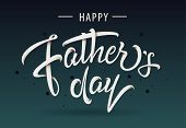 Happy Fathers Day Typography Icon. Hand Sketched Celebration Quotation For Poster, Web Design, Banne poster