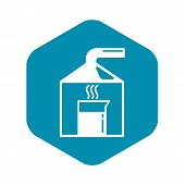Chemical Lab Experiment Icon. Simple Illustration Of Chemical Lab Experiment Vector Icon For Web Des poster
