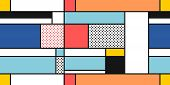 Mondrian Geometric Style Art - Seamless Modern Simple Pattern. Textile Or Gift Paper Design. poster