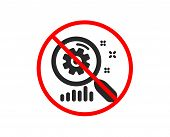 No Or Stop. Search Statistics Icon. Find Analysis Sign. Prohibited Ban Stop Symbol. No Search Statis poster