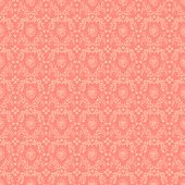 Seamless Pink Damask Background
