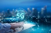 5g Network Wireless Systems And Internet Of Things, Smart City And Communication Network With Smartp poster