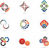 colourful cog icons (Set Of 9) poster