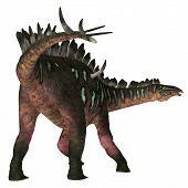 Miragaia Dinosaur Tail 3d Illustration - Miragaia Was A Armored Stegosaurid Sauropod Dinosaur That L poster