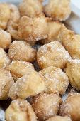 stock photo of lent  - Closeup of delicious fritters with sugar lent