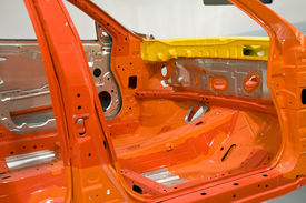 picture of mechanical engineer  - A car shell and made ready in room - JPG