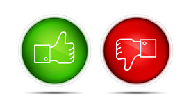 pic of follow-up  - lIllustration of the thumb up and thumb down buttons - JPG