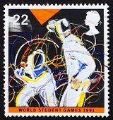 Postage stamp GB 1991 Two swordsman in fight