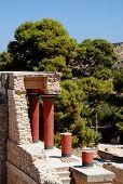 foto of minos  - Beatiful minoan palace Knossos on Crete Greece - JPG