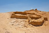 picture of masada  - The Ruins of the Fortress Masada Israel - JPG
