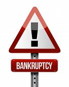 Bankruptcy Road Sign Illustration Design