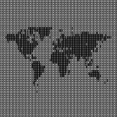Binary World Map
