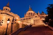 Stairs Of Fisherman's Bastion In Budapest