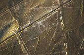 picture of geoglyph  - Spider aerial view of Nazca Lines  - JPG