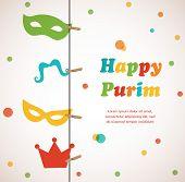 image of purim  - Jewish holiday Purim set - JPG