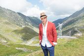 picture of breathtaking  - portrait of a young fashion man posing outdoor - JPG