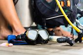 picture of oxygen  - Equipment for divers - JPG
