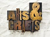 pic of wood craft  - The words Arts  - JPG