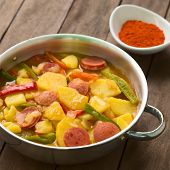 picture of hungarian  - Hungarian dish called Paprikas Krumpli  - JPG