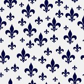 pic of fleur de lis  - Navy Blue and White Fleur - JPG