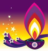pic of diwali  - Indian new year diwali candle light illustration - JPG