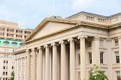 stock photo of treasury  - Washington DC capital city of the United States - JPG