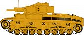 Постер, плакат: German battle tank
