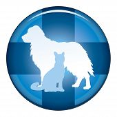 picture of vet  - Veterinarian Medical Symbol Button is an illustration of a design for a vet or veterinarian on a button - JPG
