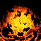 stock photo of plasmatic  - Burning fire ball generated texture or background - JPG