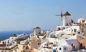 image of west village  - Windmill in Oia Santorini - JPG