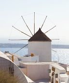 picture of west village  - Windmill in Oia Santorini - JPG