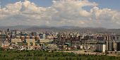 stock photo of ulaanbaatar  - New construction of buildings in the capital city Ulaanbaatar,Mongolia