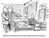 image of multitasking  - The businesswoman is a excellent multitasking executive assistant - JPG