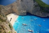 image of shipwreck  - Beautiful beach with a shipwreck in Zakynthos Island - JPG
