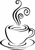 Line Art Black Coffee Icon