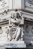 picture of dom  - Statue of Dom Pedro IV at Rossio Square Lisbon Portugal - JPG