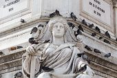 image of dom  - Statue of Dom Pedro IV at Rossio Square Lisbon Portugal - JPG