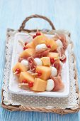 picture of canapes  - Appetizer canape with melon - JPG