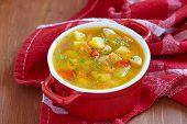 foto of celery  - Chicken soup with potato - JPG