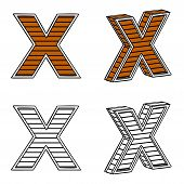 picture of letter x  - Letter X  - JPG