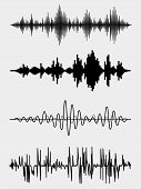 image of vibrator  - Vector sound waves set - JPG