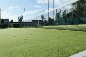 foto of hollow point  - green tennis court in the town of la spezia - JPG