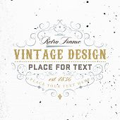 picture of flourish  - Vintage Frame for Luxury Logos - JPG