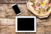 image of lunch  - Business lunch mock up - JPG