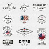 picture of memorial  - Memorial day badges logos and labels for any use on a white background - JPG