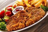 stock photo of pork chop  - Fried pork chop - JPG